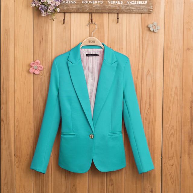 Free Shipping 2018 New Business Suit Long-sleeved Female colourful Women Office Ladies Blazer Femme Casaco Feminino Jacket XZ801