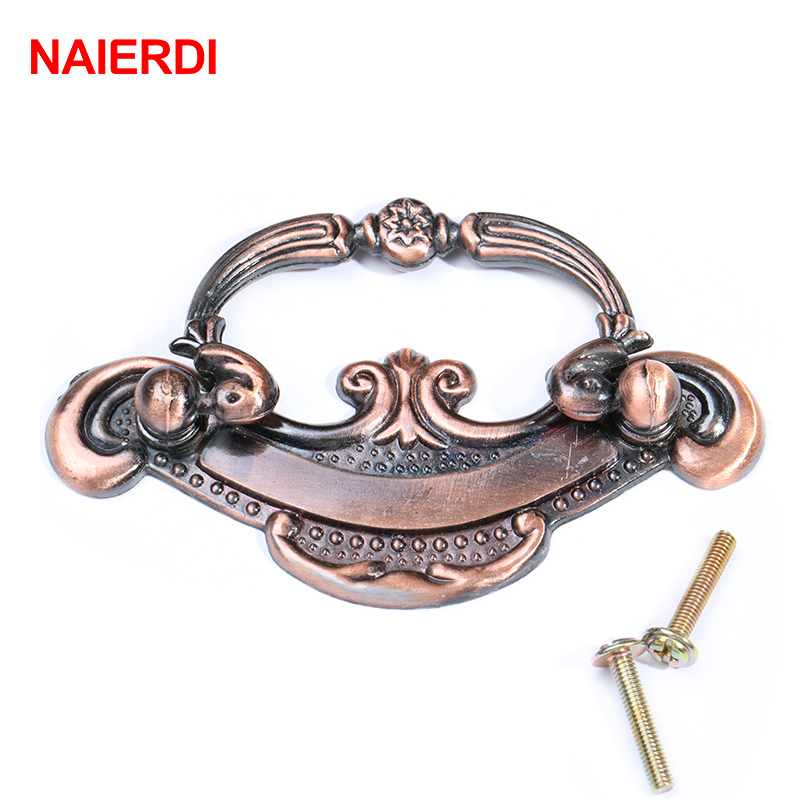 5PCS NAIERDI Bronze European Handles Kitchen Cabinet Knobs Door Cupboard Handle Wardrobe Drawer Pull For Furniture Hardware 1pc furniture knobs black kitchen door handles cupboard wardrobe drawer pull handle cabinet knobs and handles furniture hardware