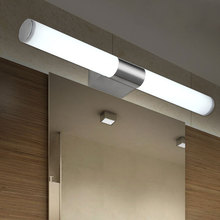 Newly Designed Modern 8W 40CM LED Bathroom Light Fixtures Mirror Wall light Indoor mirror-front Sconces lighting lamps artpad black rotatable bathroom wall lamp 8w 41cm modern mirror light ac 110 260v wall mounted indoor sconces lighting fixture