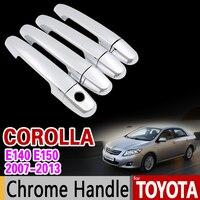 For Toyota Corolla E140 E150 2007 2013 Chrome Handle Cover Trim Set 2008 2009 2010 2011