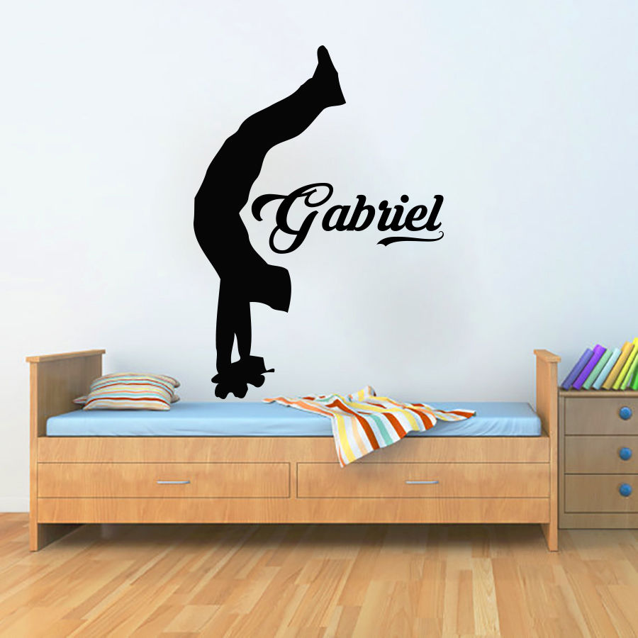 Personalized Name Wall Decals Skate Stickers Decal Vinyl Boy Nursery Room