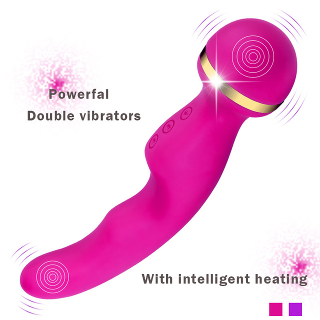 AV Wand body Massager,Dual vibration Intelligent Heating vibrator