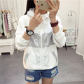 New Jackets Women's 2017 Hooded Fashion Thin Top Design Summer Sunscreen Jacket Outwear Women Coat