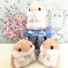 Lovely Fluffy Soft Short Plush Cartoon Animal Hamster Keychain Stuffed Mouse Pompom Doll Keyring Women Bag Charms Trinket Toy
