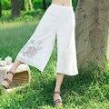 Fashion Women Wide Leg Pants Plus Size Pants Loose Fit Baggy Summer Spring Chiffon Elastic Waist Thin Pants Ladies Black White