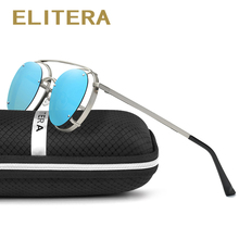 ELITERA Round Polarized sunglasses women Retro Style Metal Hollow Frame Sun Glasses Famous Lady Brand Designer Oculos Feminino