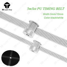 Timing belt PU with Steel Core GT2 Belt 2GT Timing Belt 6mm 10mm Width 5M/lot for 3d printer Black/White-in 3D Printer Parts & Accessories from Computer & Office on Aliexpress.com | Alibaba Group