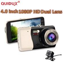 Quidux 4 дюймов IPS Экран Видеорегистраторы для автомобилей Новатэк NTK96658 автомобиля Регистраторы тире Камера Full HD 1080 P видео 170 градусов тире cam Ночное видение