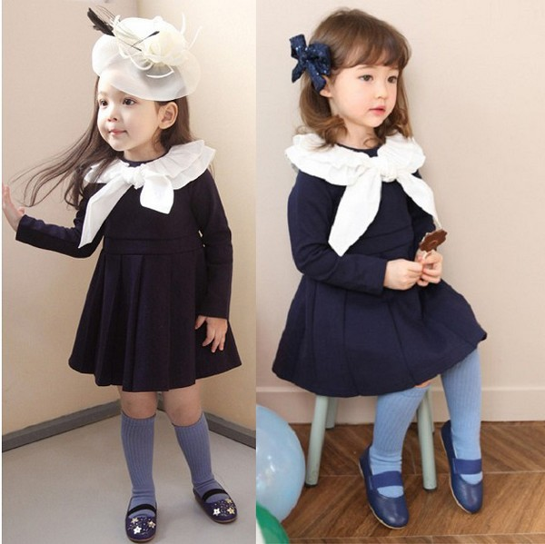 Free shipping Children's clothing wholesale spring autumn girl long-sleeved dress son/palace type princess dress sexus funny five вибратор розовый водонепроницаемый