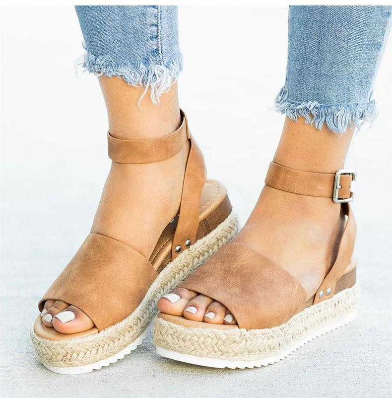 Women High Heels Sandals Summer Shoes Flip Flop Chaussures Femme Platform Sandals 17