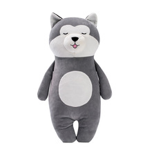Soft Stuffed Toys Originality Standing Posture Husky Plush Pillow Lint Doll Cartoon Dog Toy