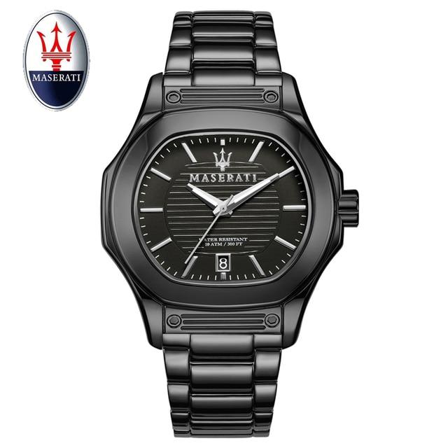 2859b72c5b1 2018 Maserati Men Watch Quartz Brand Luxury Fashion Casual Men s Watches  Stainless Steel 100M Waterproof Wristwatch