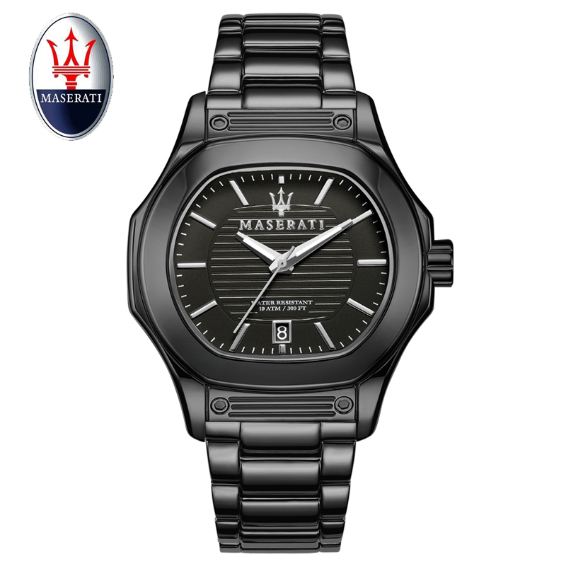 2018 Maserati Men Watch Quartz Brand Luxury Fashion Casual Mens Watches Stainless Steel 100M Waterproof Wristwatch