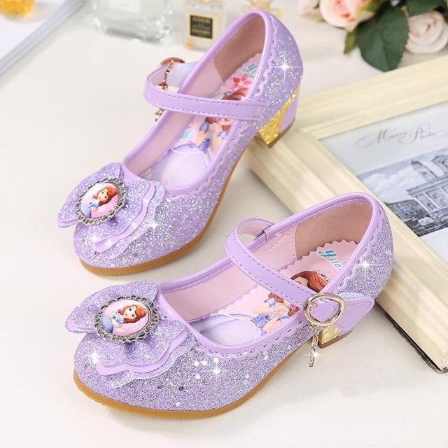 32cd758d73d4d US $12.96 20% OFF|New Girls high heels Sandals Summer Spring children  princess Sofia shoes little girl shoes purple shoes enfant sandals-in  Sandals ...