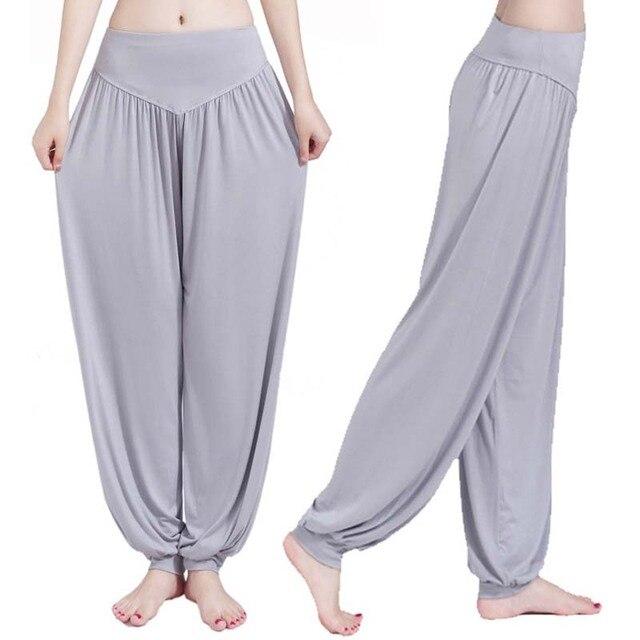 Women high waist Long Pants Harem Youga Modal Dancing Long Trouses Wide Loose Leg Belly Dance Comfy Boho Pants colors YF483 3