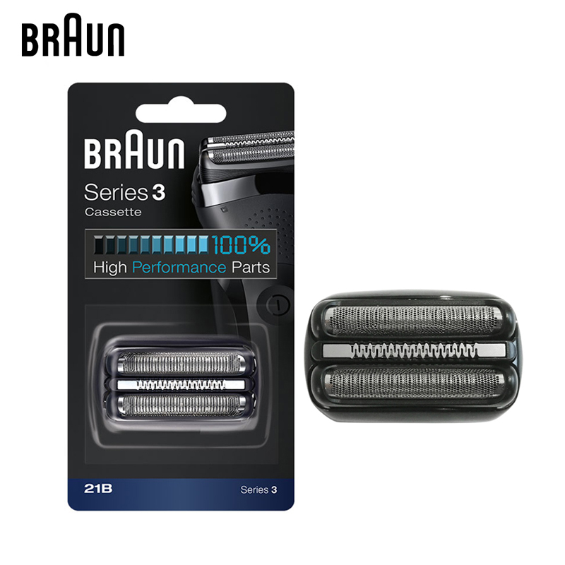 цена на Braun 21B Electric Shaver Replacement Head Razor Blade Series 3 Cassette /H3 ( 300s 301s 310s 3000s 3020s 3050cc 3080s Cruzer6 )