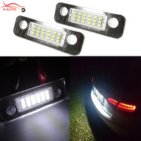 2 X For Ford Fiesta Mondeo MK2 Fusion 12V Car License Plate Light 3528 SMD 18