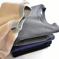 Winter New Pullover Sweatshirt Women Solid Color Lamb Velvet Padded Korean Loose Thick Velvet Warm Tide Mujer Hoodies MZ2099