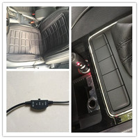 12 V Auto Heater Elektrische Sigarettenaansteker Plug Fiber Seat Verwarmde Warme Verwarming Voor Auto Interieur Bankjes Accessoire + Rock schakelaar