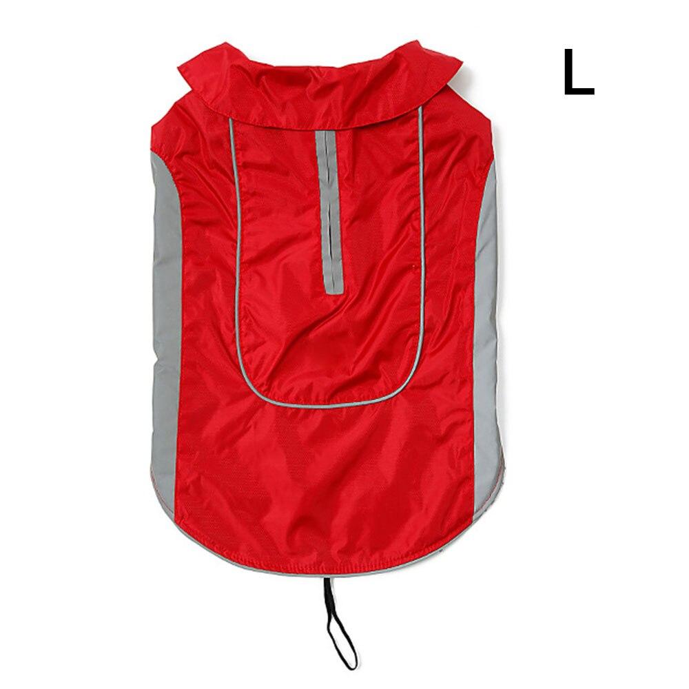 Одежда для питомцев, собачий плащ для кошек, водонепроницаемый светоотражающий ремень, красный плащ для щенка, дождевик для собак, одежда для больших собак, ropa para perro, Прямая поставка - Цвет: 3 red L
