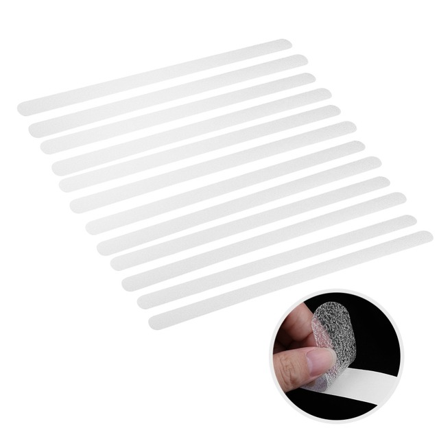 12-strisce Forte adesione di Sicurezza Anti-Slip Nastro Piano Scala Adesivo Non