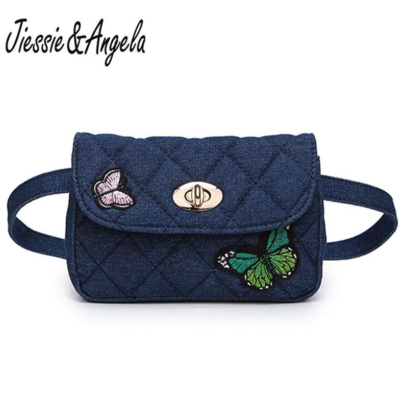 Waist Purse Cute Butterfly Unisex Outdoor Sports Pouch Fitness Runners Waist Bags