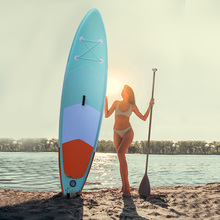 305x75x15cm SUP AQUA Portable Inflatable Stand Up Paddle Board Surfboard Fin Pump Beach Ocean Surfing board aqua marina 330 97 15cm drfit inflatable sup board stand up paddle board fishing sup board surfing board with incubator