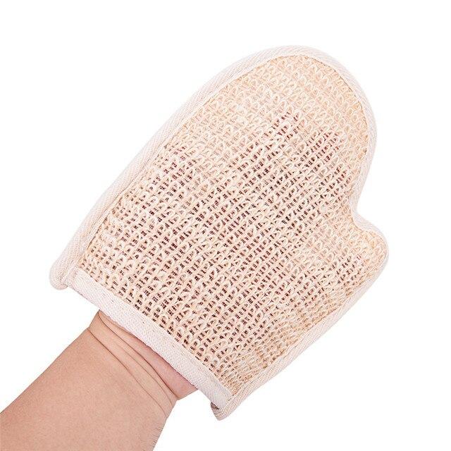 1pc Bath Hemp Shower Tubs Remove Bath Exfoliating Gloves Dirt Rubs Back Blood Bath Glove Bath Sauna Accessories hot sale 4