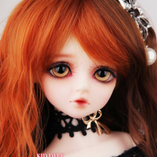 FREE SHIPPING ! FREE makeup&eyes included!top quality 42cm 1/4 bjd doll  LUTS DOLL kid delf Girl CHERRY orange hair manikin