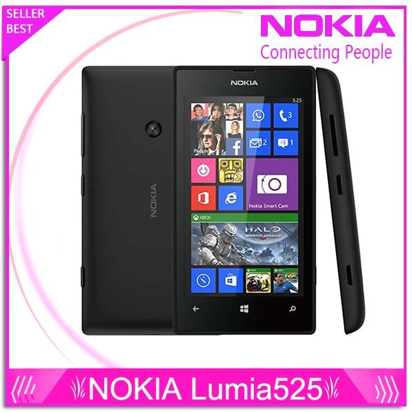 Original Nokia Lumia 525 Unlocked Nokia 525 Windows mobile phone dual core 4 IPS 8GB 5