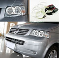 For Volkswagen VW Multivan T5 2003-2009 Excellent angel eyes Ultrabright headlight illumination CCFL Angel Eyes kit Halo Ring