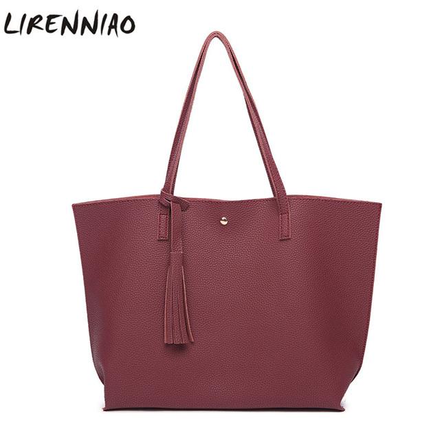 Fashion Tassel Women Shoulder Bags High Quality Soft Pu Leather Handbags Large Capacity Casual Tote Bags Ladies Bags Sac A Main