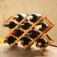 Creative personality wooden wine rack wine bottle rack solid wood wine rack Solid wood ornaments solid wood LM3131642