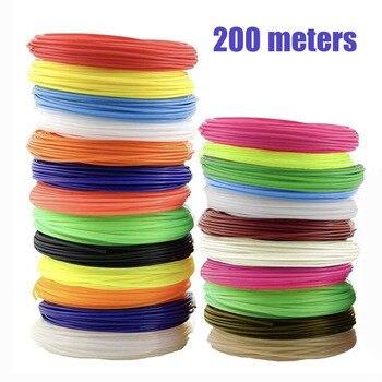 3D Pen/3D Printer Filament 1.75mm ABS filament Pack of 20 Different Colors High-Precision Diameter Filament Each color 10 meters 3D Printing Materials