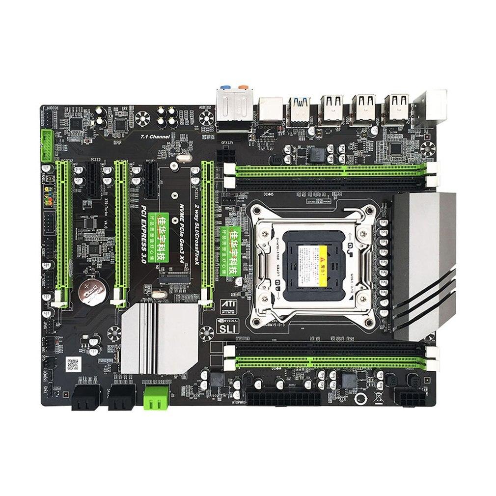 X79 placa-mãe v4 versão lga2011 pino grande dissipador de calor gigabit placa de rede ddr3 m.2 interface de disco rígido de alta velocidade
