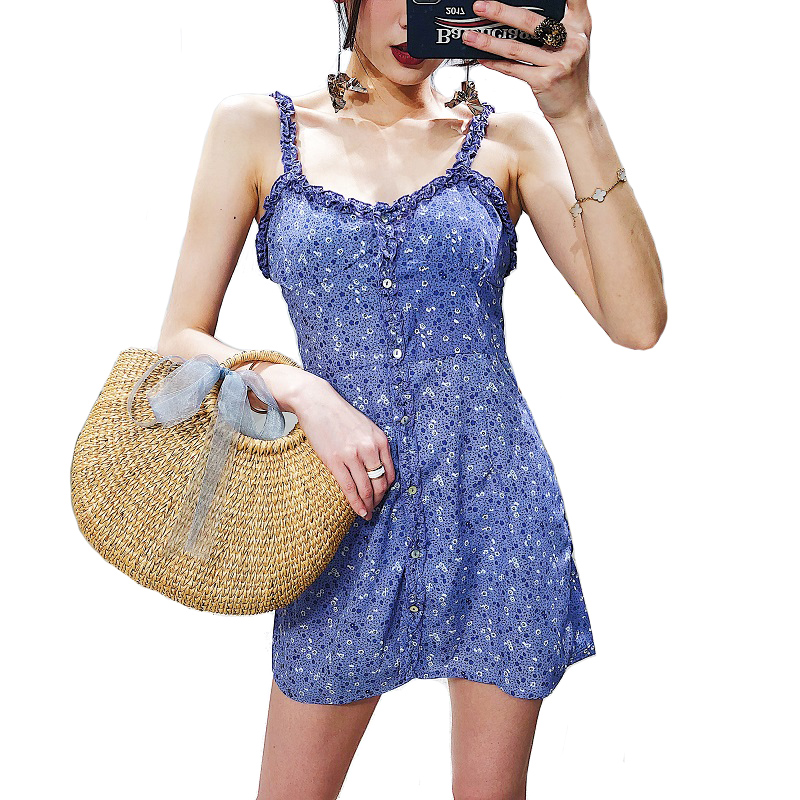 87d86c5619 Mulheres Sexy Strapless Verão Vestido de Praia Feminino Roxo Lavender  Mangas Spaghetti Strap Vestido Feminino Elegante