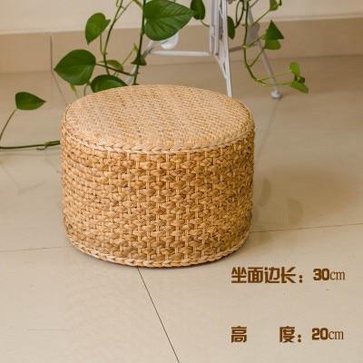 Pouf rond jacinthe d'eau naturelle chaude Tatami coussin coussins de sol coussins de méditation