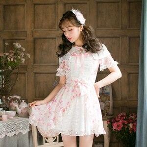 Image 5 - プリンセス甘いロリータドレス新しいキャンディ甘いスリム半袖和風C22AB7066