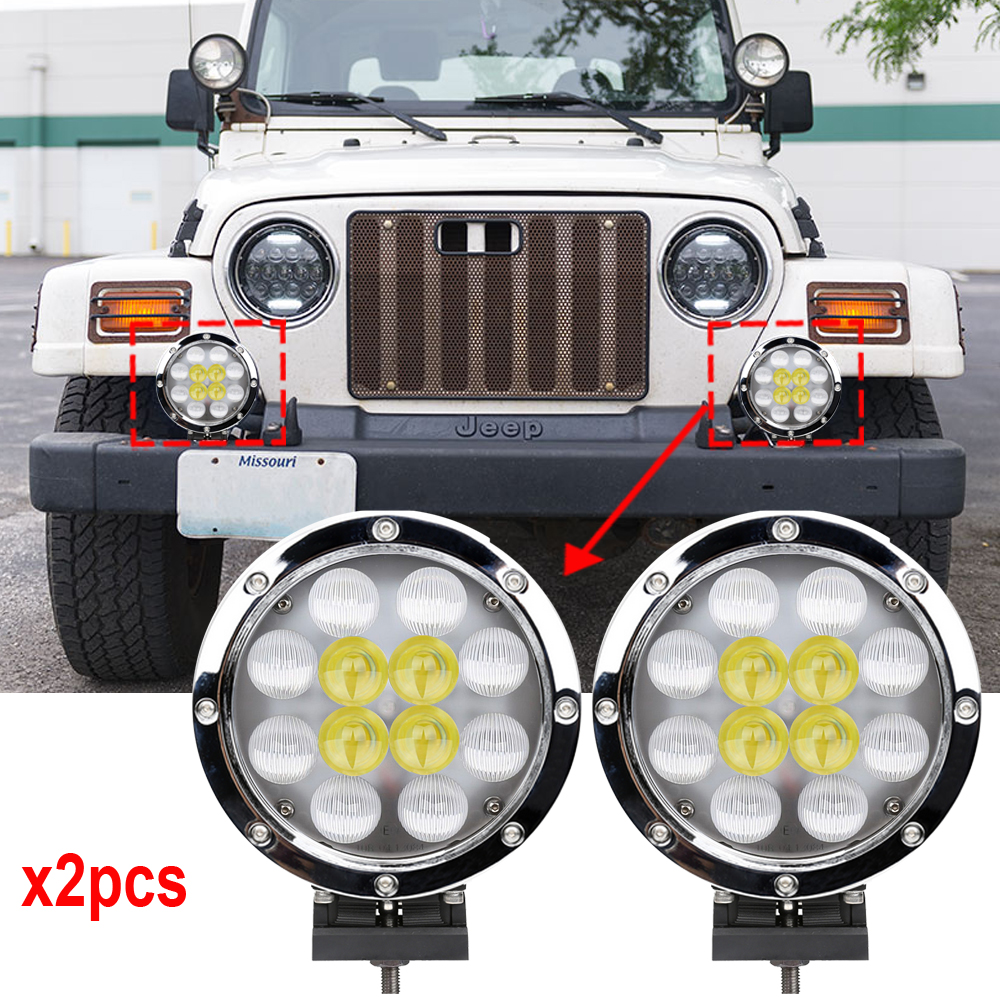 Aliexpress Com   Buy Chrome 7 Inch Round Led Car Light 60w