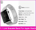 HOCO 1:1 Original Link Bracelet Straps For Apple Watch 38MM 42MM Made By 316L Stainless Steel With Original Metal Adapters