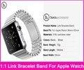 Hoco original 1:1 link pulseira de tiras para apple watch 38mm 42mm feito pelo aço inoxidável 316l com adaptadores de metal originais