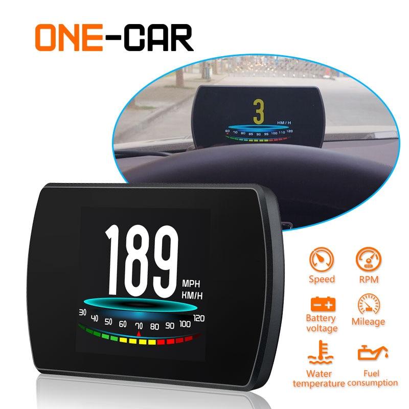 GEYIREN P12 Automobile ordinateur de bord voiture numérique OBD conduite ordinateur affichage T600 GPS tête haute affichage HUD pour voitures 2018