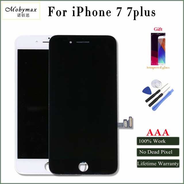 online retailer 108cc 14934 US $20.99 |Mobymax For iPhone 7 7plus LCD Display Touch Screen & Assembly  Complete Replacement in Black/White Factory Promotion Price+Gifts-in Mobile  ...
