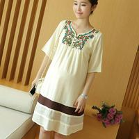 new summer maternity dresses embroidery national women's dresses pregnancy dresses maternity clothing summer clothing16439
