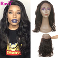 360 Lace Frontal Closure Pre Plucked 8A Brazilian Body Wave Lace Band Frontals With Baby Hair 360 Lace Virgin Hair With Strap