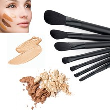 Professional Goat Hair 7Pcs Makeup Brush Set Tools Cosmetic TF