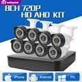 720 P 8CH Sistema de Câmera de Segurança CCTV Sistema de Câmera de CCTV AHD CCTV 8CH AHD DVR 8*720 P Câmera de Segurança Fácil Telefone Inteligente acesso