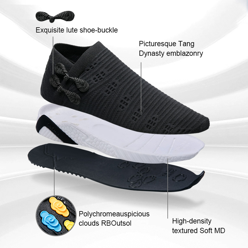 ONEMIX Women 2019 Newest Sneakers Tang Dynasty Style Casual Walking Flats Comfortable Knitted Vamp Sneakers Loafers Running in Women 39 s Flats from Shoes