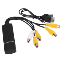 Durable 4 Channel USB 2 0 To 5RCA DVR Video Audio Capture Adapter Card For CCTV