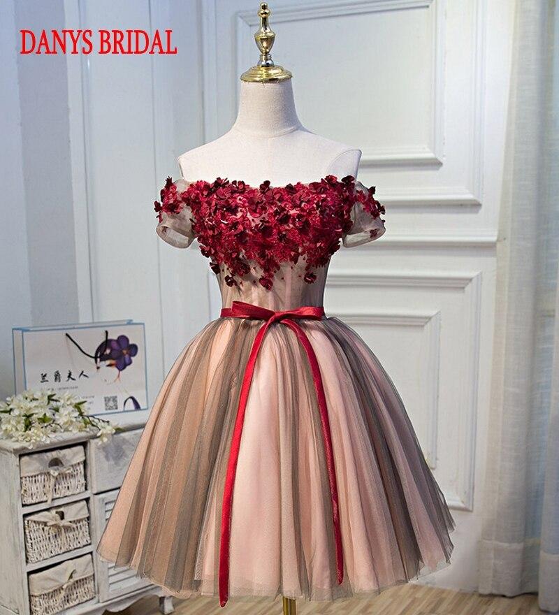 Short   Prom     Dresses   for Girls kleider Tulle Off Shoulder Women Formal Evening   Dresses   for Graduation promkleider